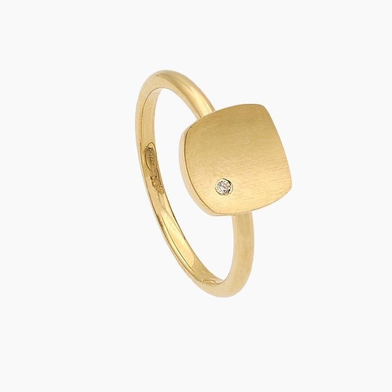 Sortija cuadrado de oro