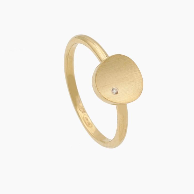 Sortija círculo de oro