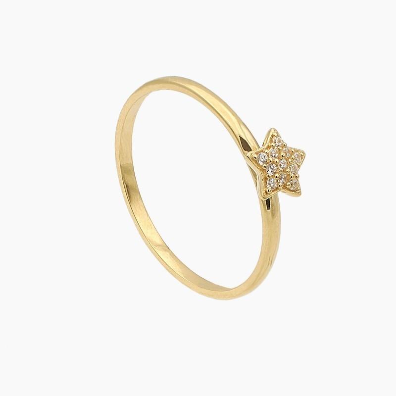 Sortija estrella de oro