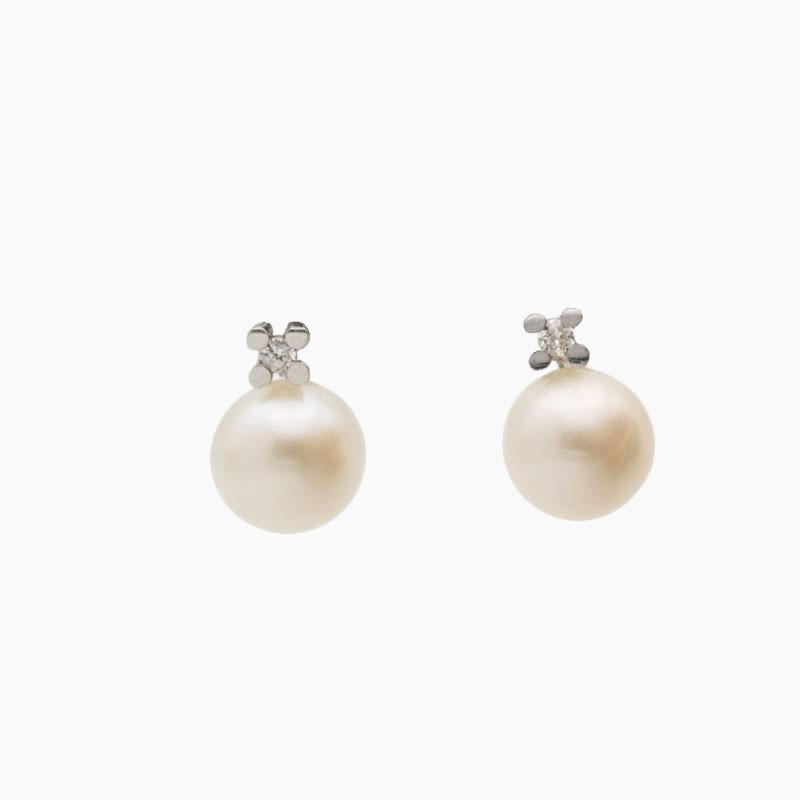 Pendientes de perlas para niña