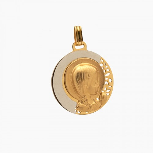 Medalla bicolor moderna