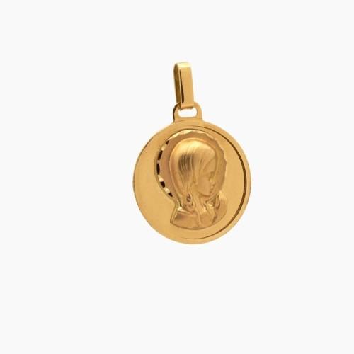 Medalla de oro en brillo
