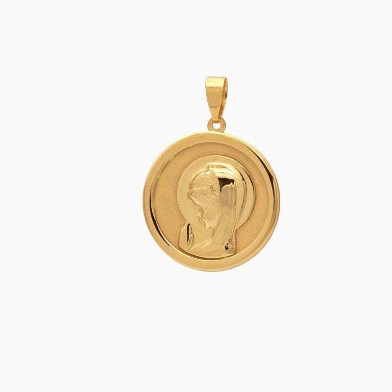 Medalla de oro en mate y brillo