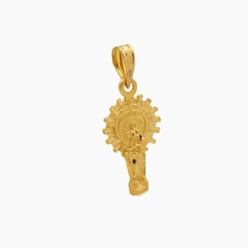 Medalla Virgen del Pilar en silueta