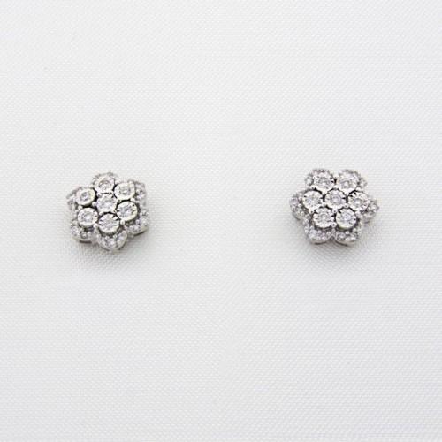 Pendientes rosetón diamantes