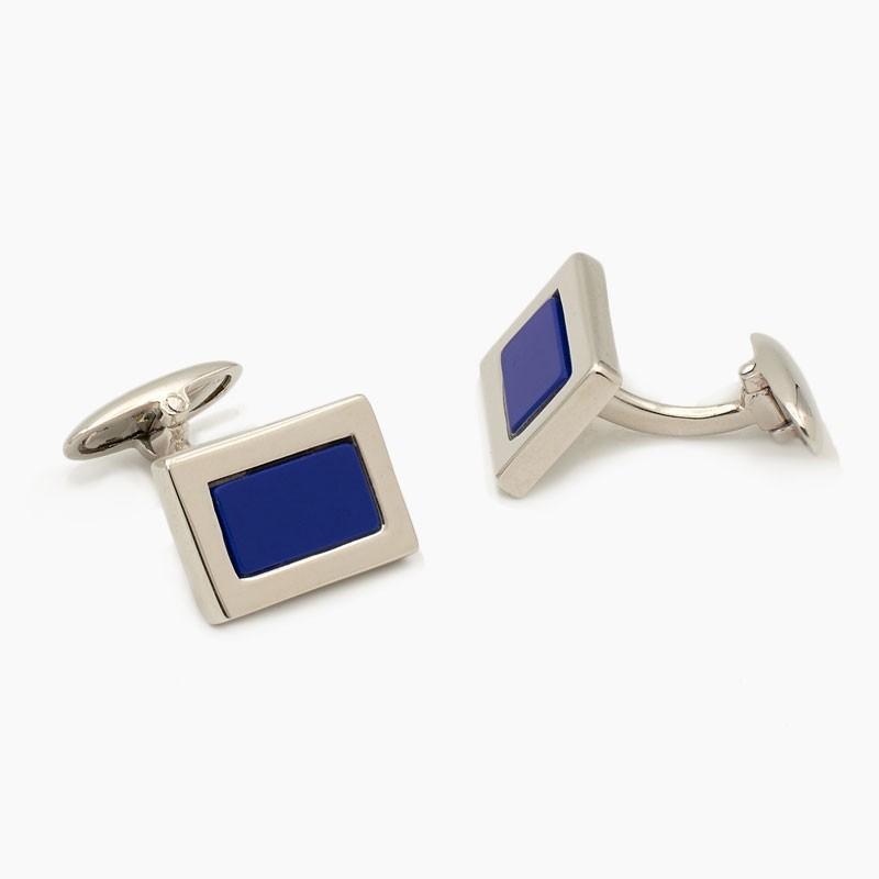 Gemelos rectangulares de lapislázuli