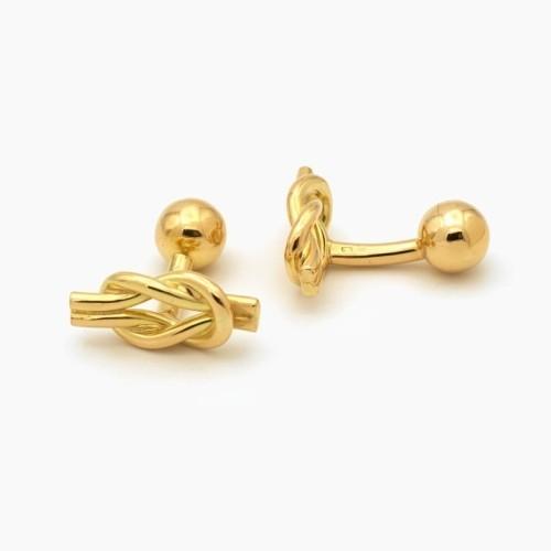 Gemelos nudo de oro