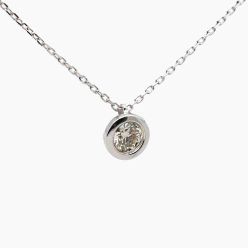 Gargantilla de oro blanco y diamante B-301