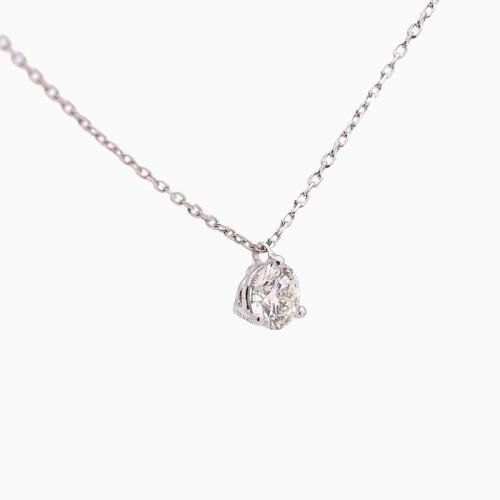 Gargantilla de oro blanco y diamante B-401