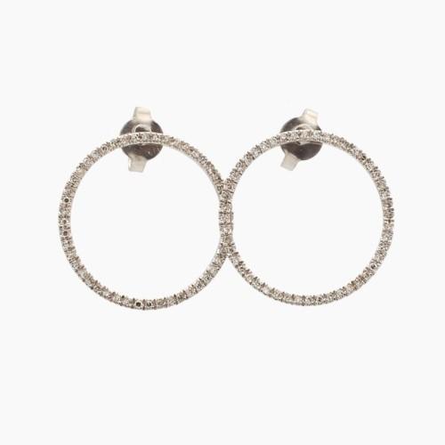 Pendientes de aro con diamantes - B22