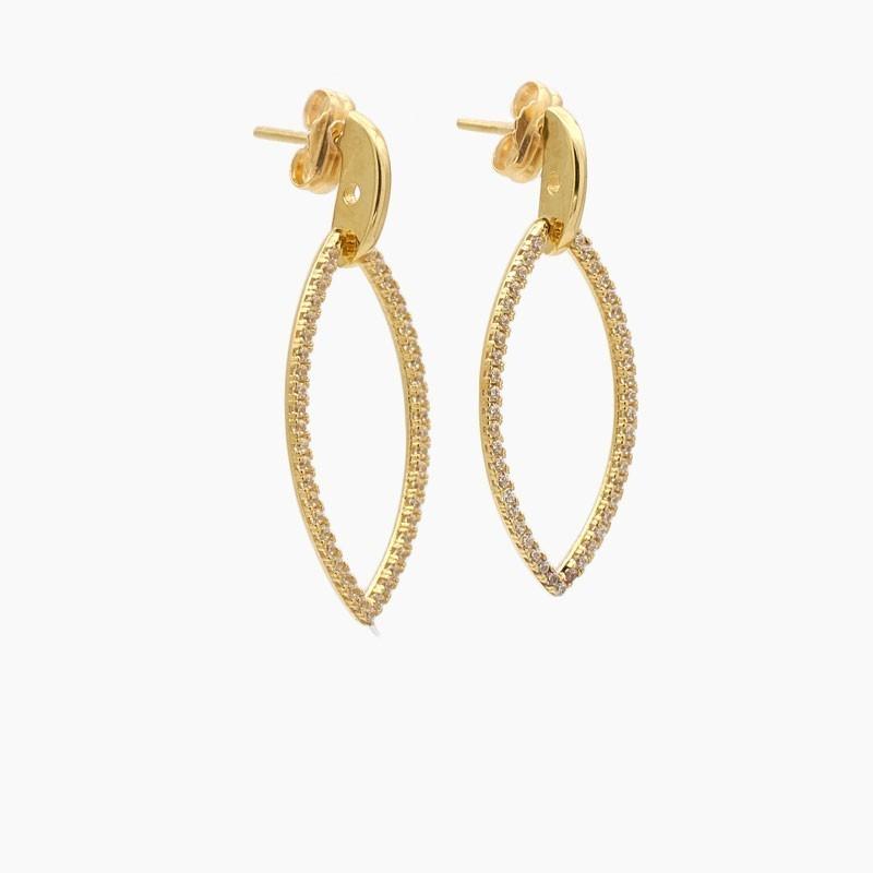 Pendientes de oro amarillo con circonitas - 4169