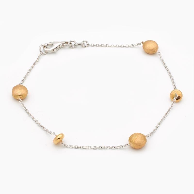 Pulsera de oro bicolor - 2802