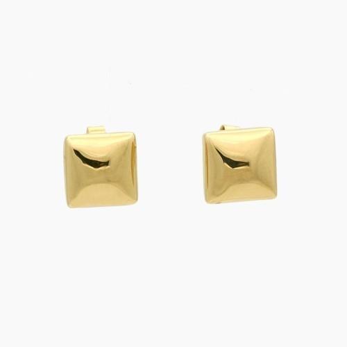 Pendientes de oro amarillo de forma cuadrada - 8130