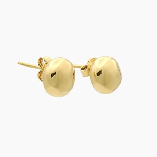 Pendientes en oro amarillo de forma redonda - 8130
