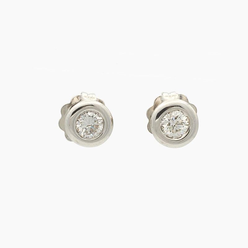 Pendientes de chatón con diamantes - 5030