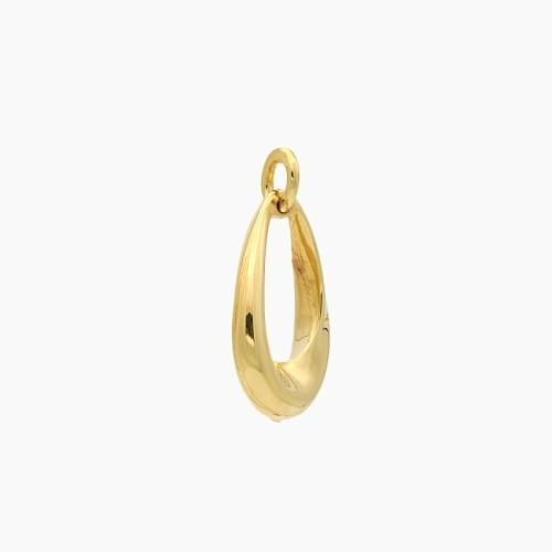 Colgante de oro amarillo en forma de gota - 9030