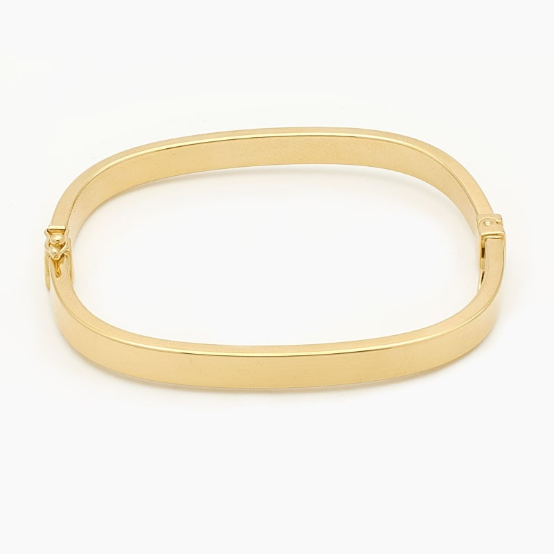 Pulsera en oro amarillo de forma rectangular - 4022