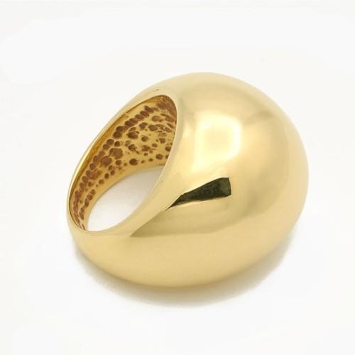 Sortija de oro amarillo de gran volumen - 1530