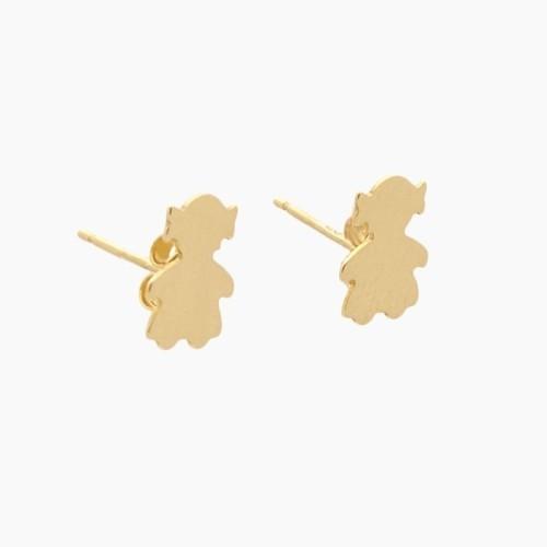 Pendientes de oro en forma de niña - 7044