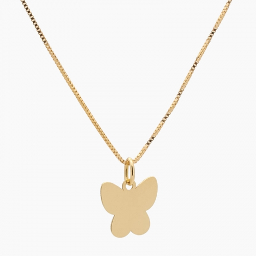 Colgante de oro en forma de mariposa - 4635