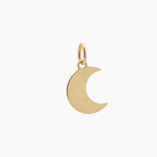 Colgante de oro en forma de luna - 3635