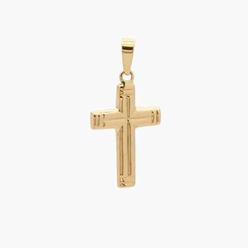 Cruz latina de oro amarillo - 4173