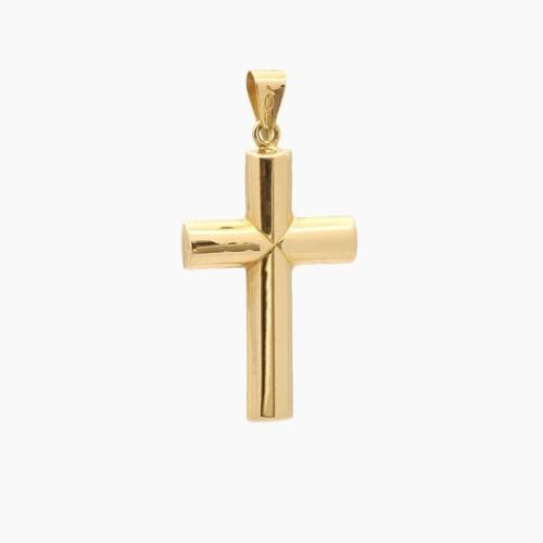 Cruz latina de oro amarillo - 4040