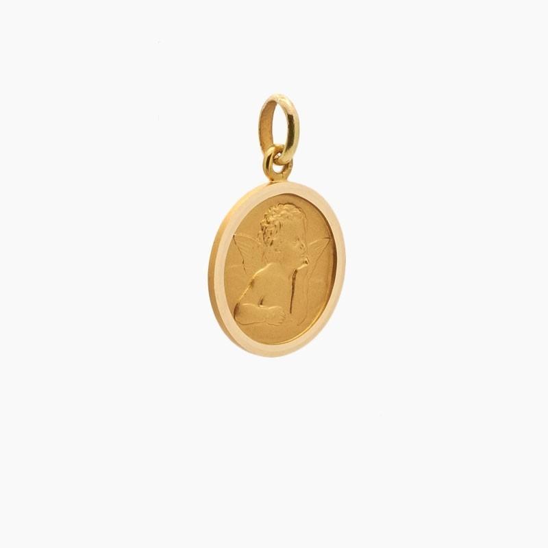 Medalla de angelote en oro...
