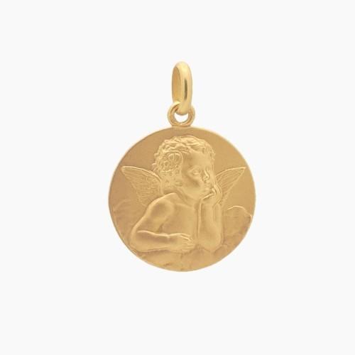 Medalla de angelote en oro - 0140