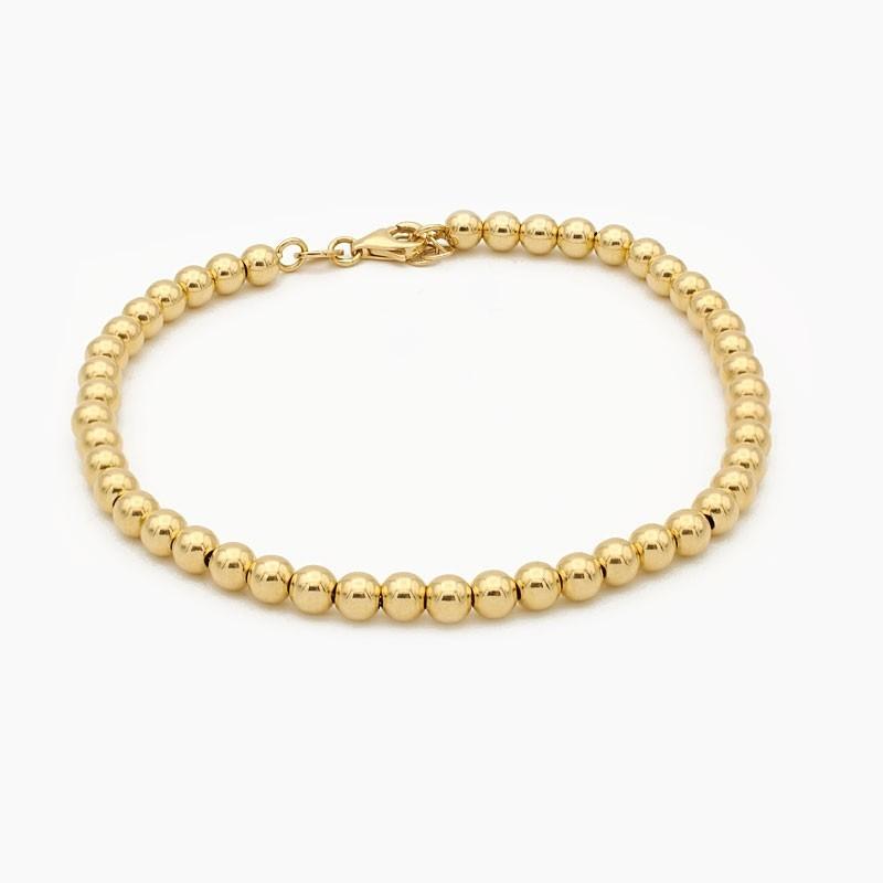Pulsera de oro en diseño de...