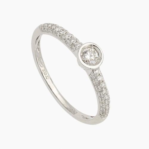 Sortija de oro y diamantes - 10B21