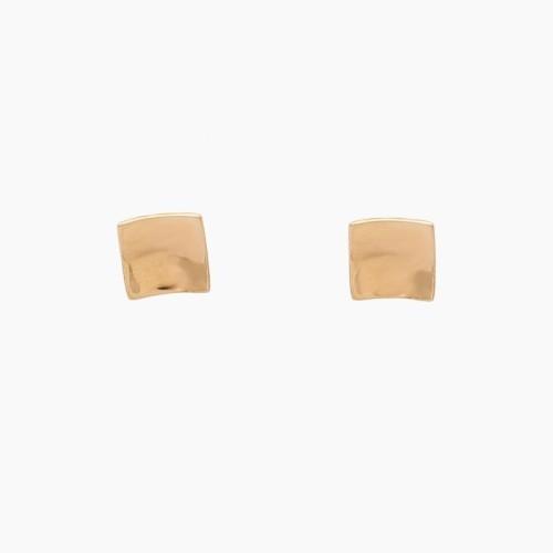 Pendientes cuadrados de oro rosa - 1101