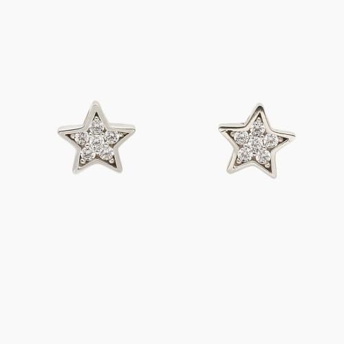 Pendientes de estrella con circonitas...