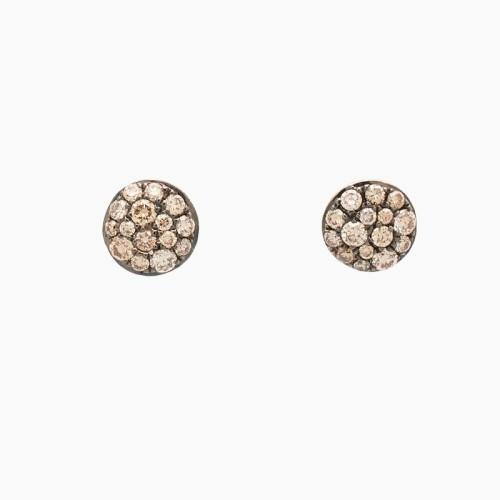 Pendientes de oro rosa con diamantes...