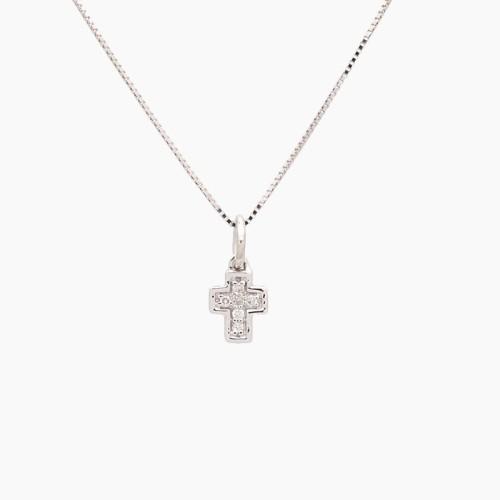 Gargantilla con forma de cruz con...