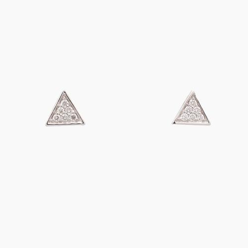 Pendientes triángulos con diamantes