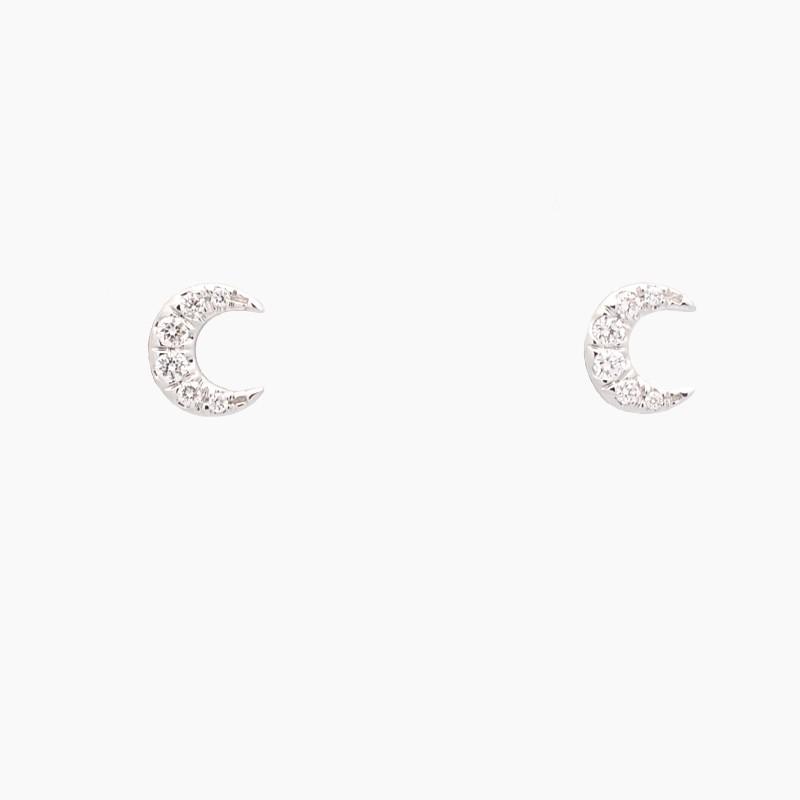Pendientes lunas con diamantes