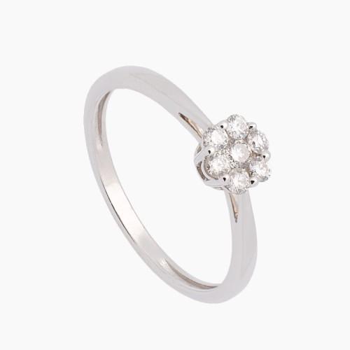 Sortija de oro blanco y diamantes - 0144