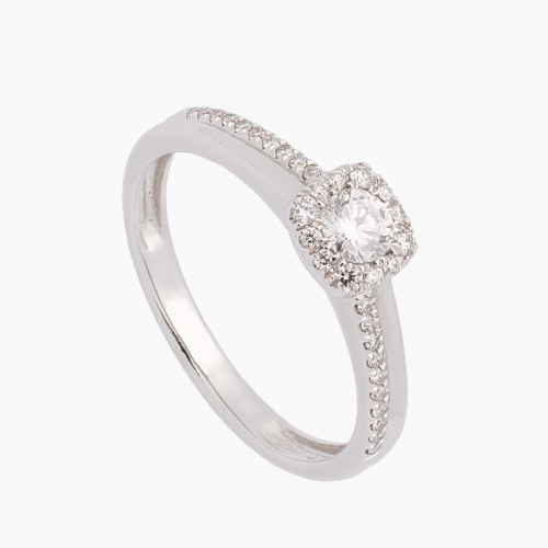 Sortija de oro blanco y diamantes - 2044