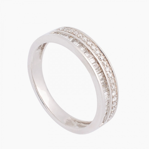 Sortija de oro blanco y diamantes - 5155