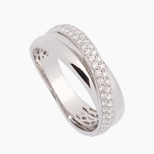 Sortija de oro blanco y diamantes - 7044