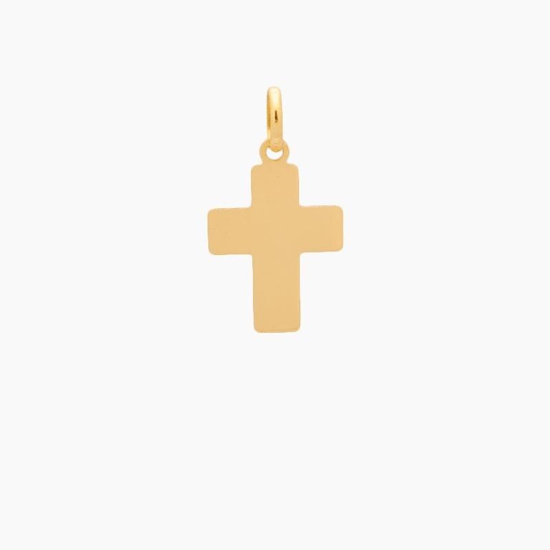 Cruz latina de oro de 18k