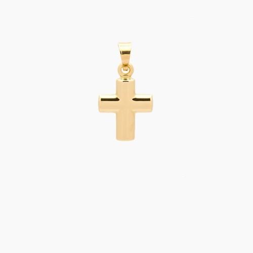 Cruz latina bombé de oro de 18k