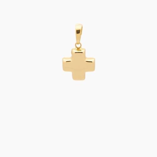 Cruz griega de oro de 18k