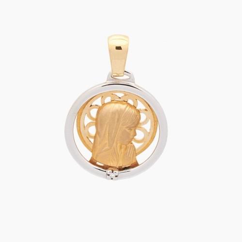 Medalla de la Virgen Niña en oro de...