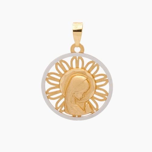 Medalla de la Virgen Niña en oro de 18k