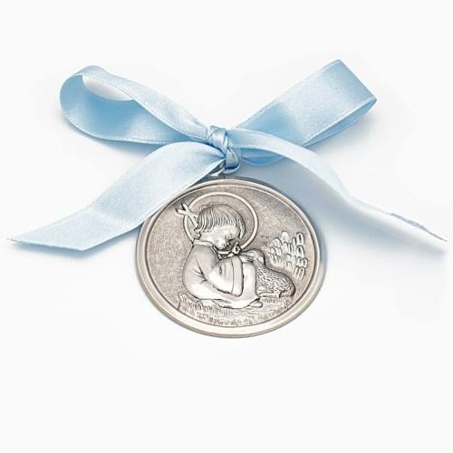 Medalla de cuna con el Niño Jesús