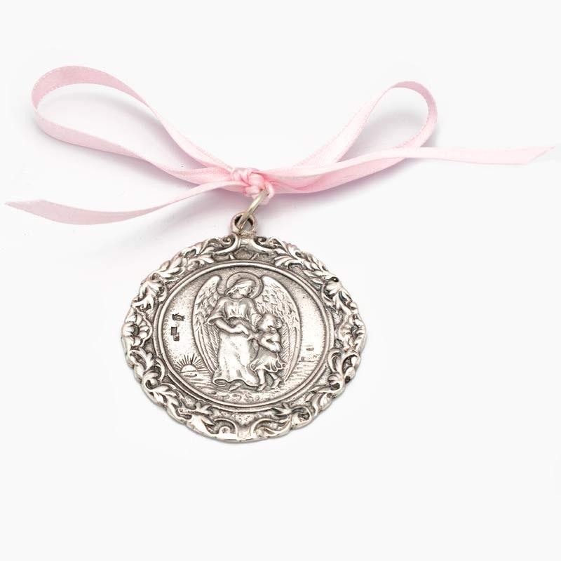 Medalla de cuna con Ángel...