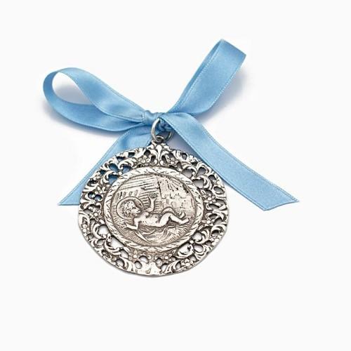 Medalla de cuna con el Niño Jesús...