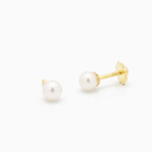 Pendientes de bebé con perlas cultivadas